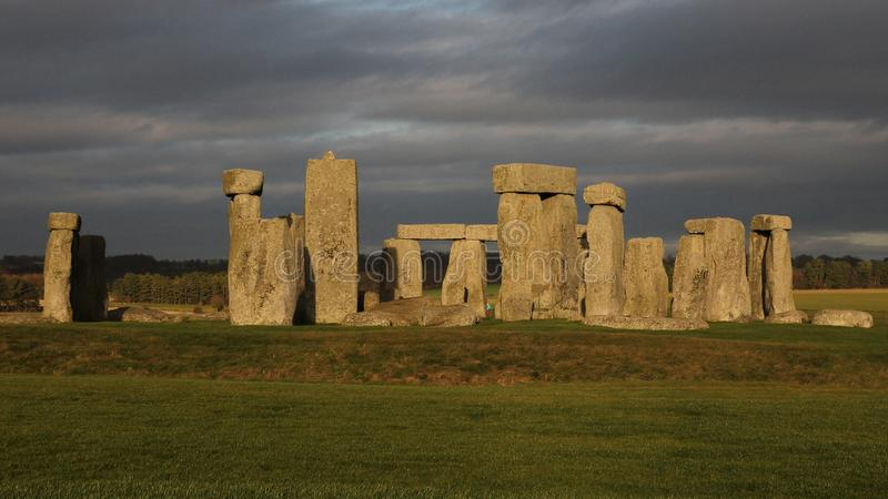 the stones of Stonehenge, a prehistoric monument in Wiltshire, E royalty free stock photography