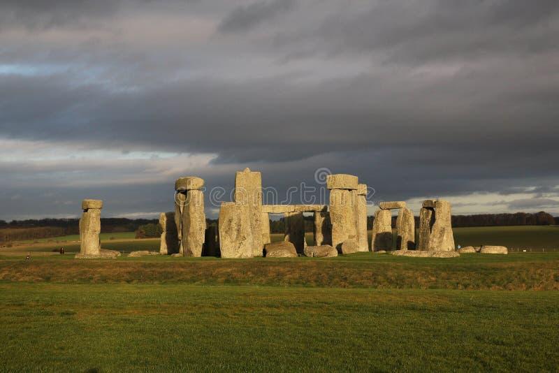The stones of Stonehenge, a prehistoric monument in Wiltshire,. England. UNESCO World Heritage Sites stock photo
