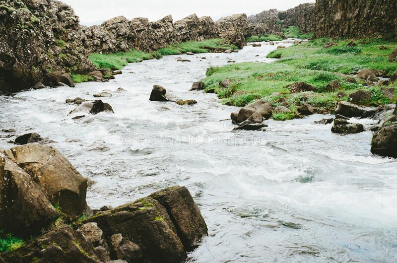 Stones In A Stream Free Public Domain Cc0 Image