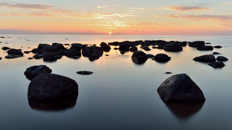 Stones After sunset stock photos