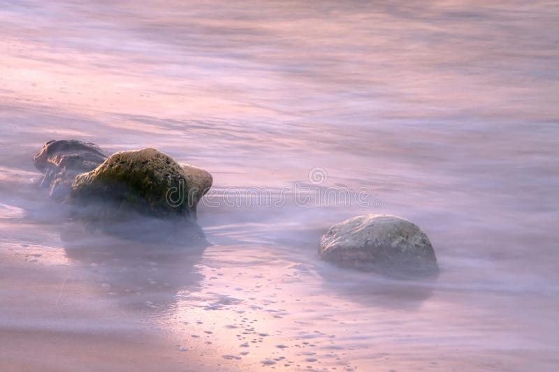 Download Stones in the tide stock image. Image of mist, stones - 23414563