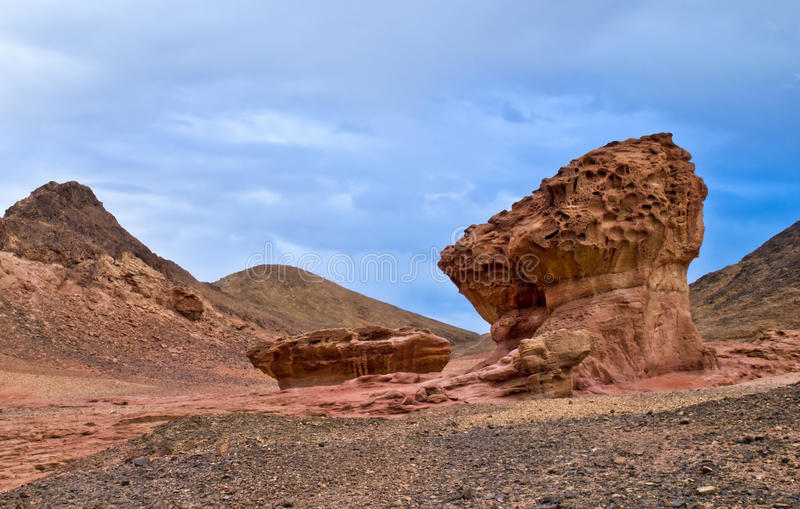 Stones of Timna park stock photography
