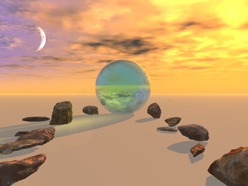 Download Stones To Crystal Orb Royalty Free Stock Photos - Image: 777498