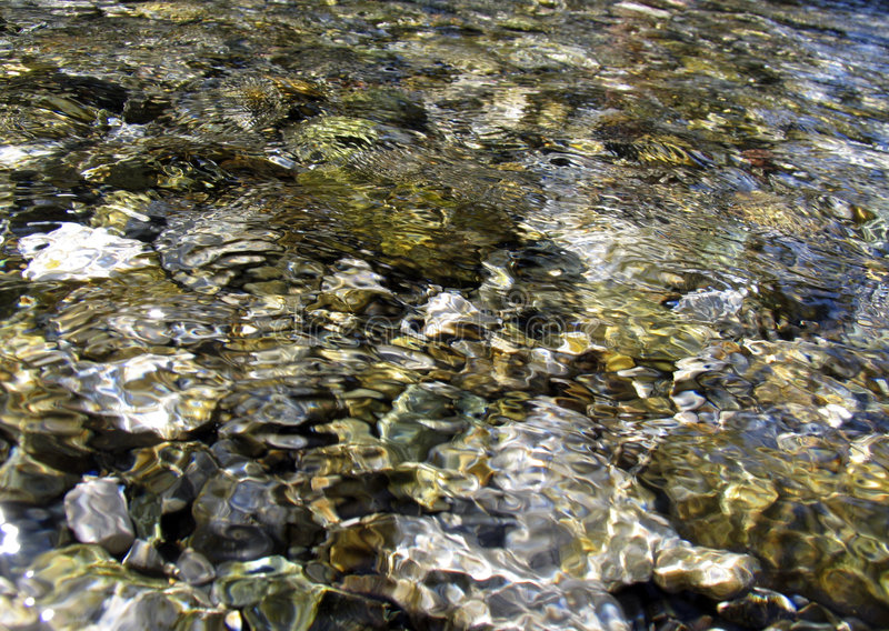 Stones under water stock images