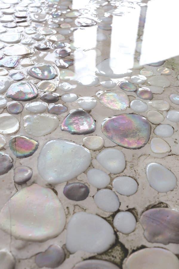 Stones under water stock photo
