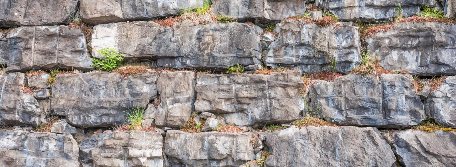 Stones in the wall royalty free stock images