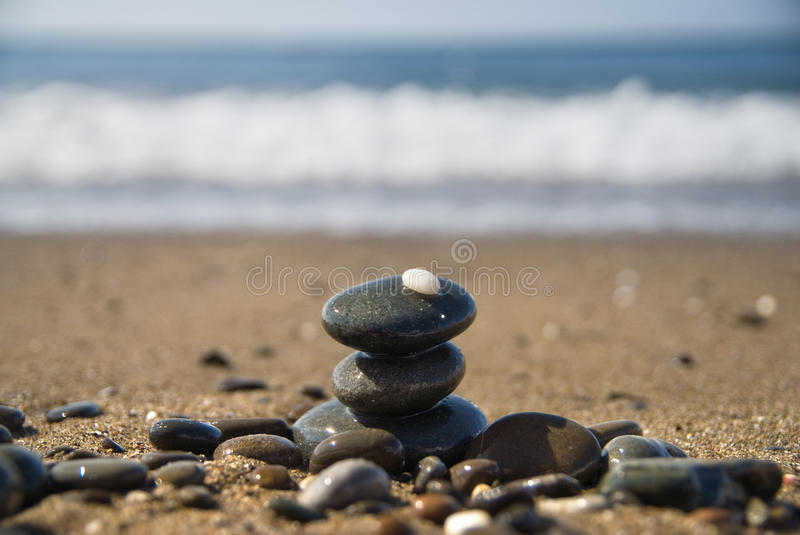Download Stones and water wave stock image. Image of close, abstract - 14224245