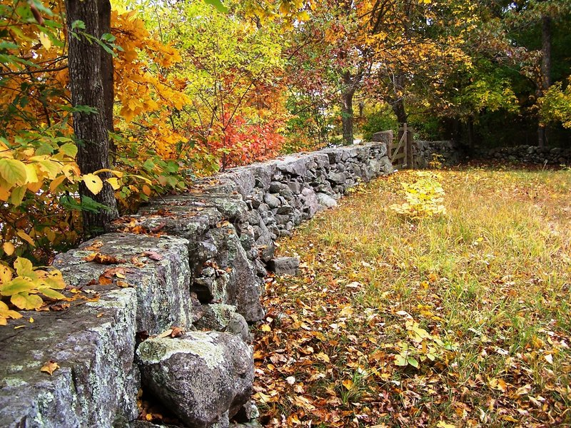 Stonewall in fall. stock image