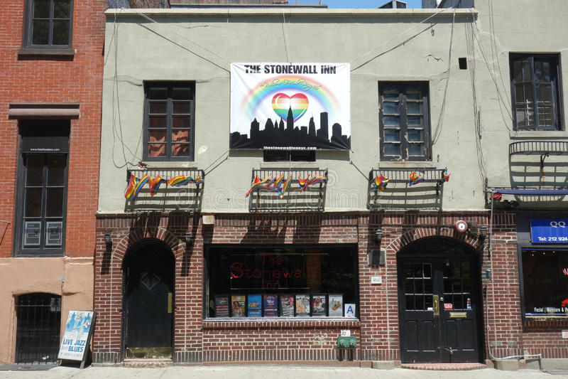 Stonewall-Gasthaus lizenzfreie stockfotografie