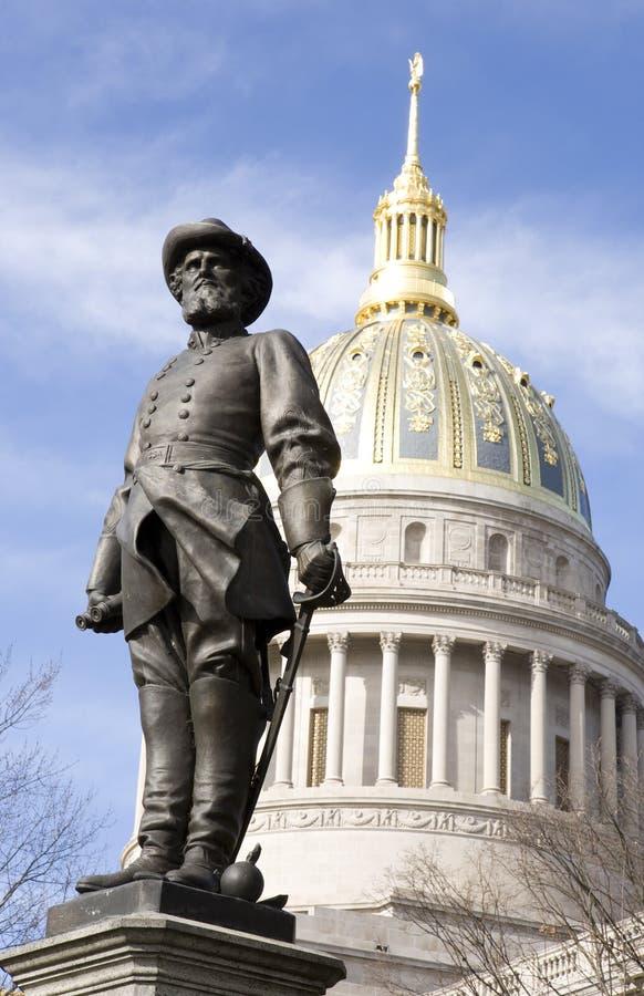 Stonewall Jackson et Charleston la Virginie Occidentale image libre de droits