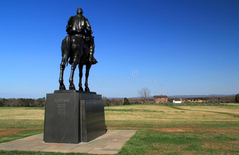 Stonewall Jackson monument arkivbilder