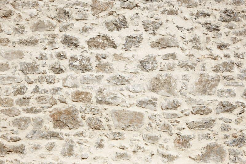 Stonewall med detaljen för vitt cement horisontal arkivfoton