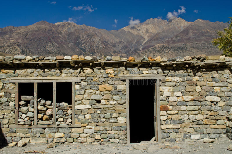Stonewall In Nepal Rural Royalty Free Stock Photography