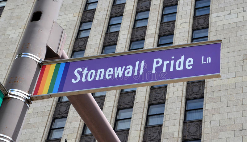 Stonewall Pride Lane in Columbus, OH- stockfotos