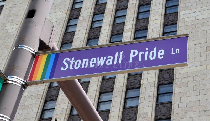 Stonewall Pride Lane i Columbus, OH arkivfoton