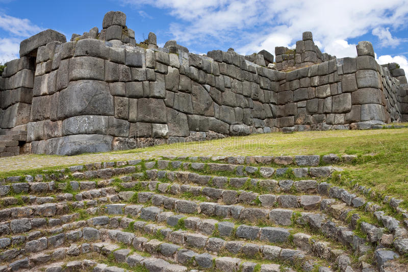 Stonework do Inca - Sacsayhuaman - Peru fotografia de stock royalty free