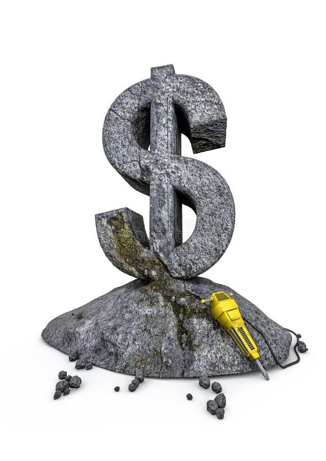 Download Stonework dollar stock illustration. Illustration of financial - 27324391