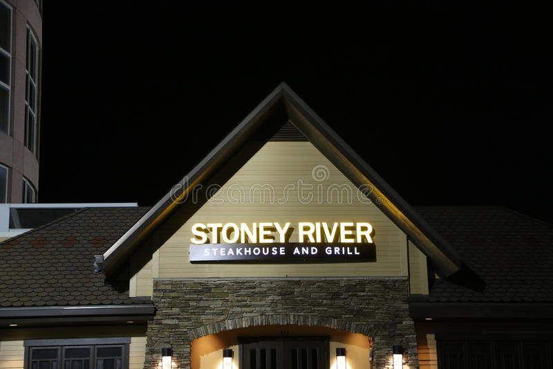 Stoney River Steakhouse e grade fotografia de stock royalty free