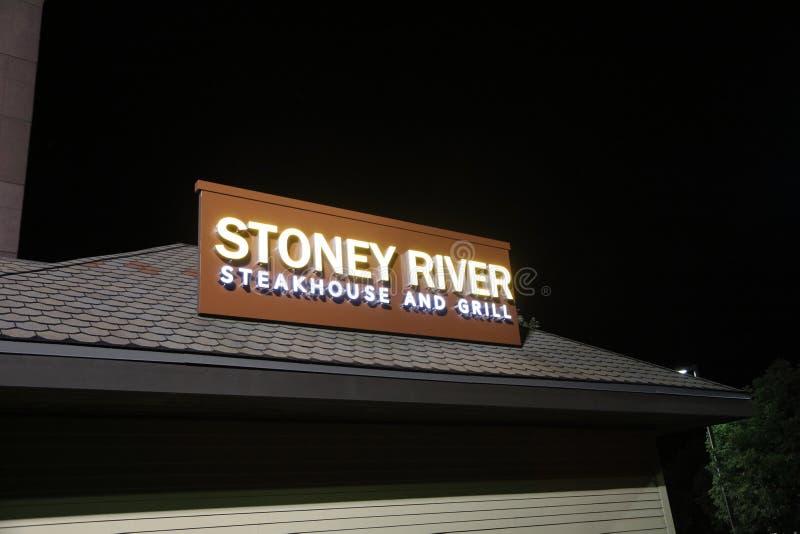 Stoney River Steakhouse e grade, St Louis, Missouri foto de stock