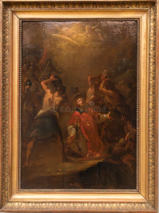 The Stoning of Saint Stephen the Protomartyr stock photo