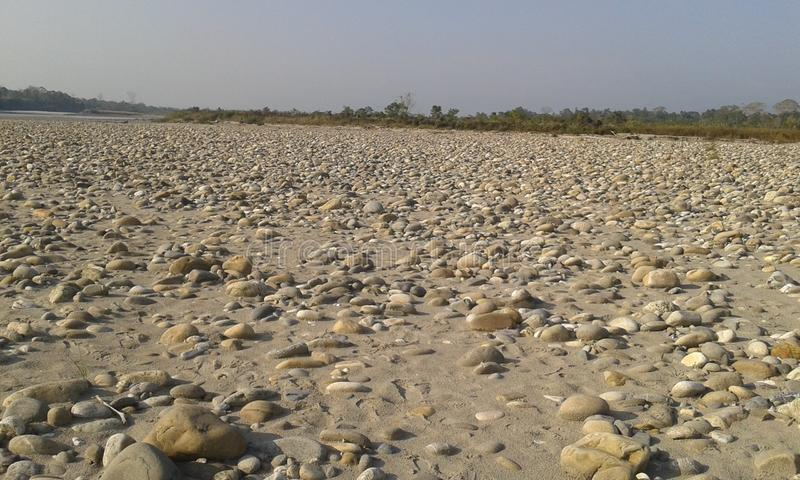 Stonny path of a dried river royalty free stock photos