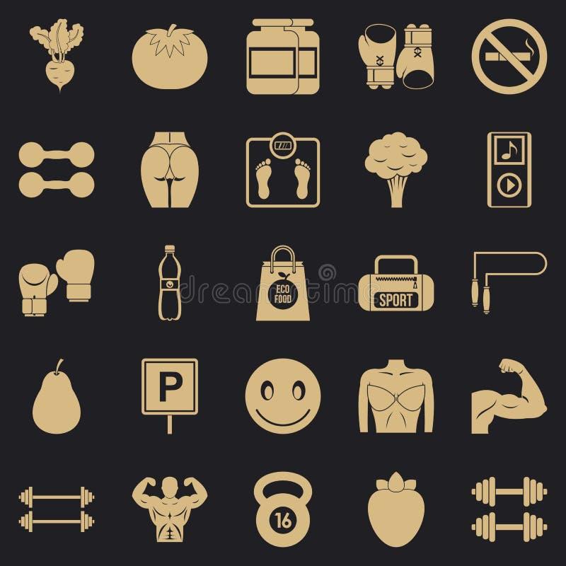Stonowane cia?o ikony ustawia?, prosty styl royalty ilustracja