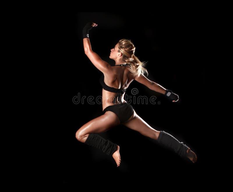 Stonowany sprawności fizycznej ciało kobieta obraz royalty free