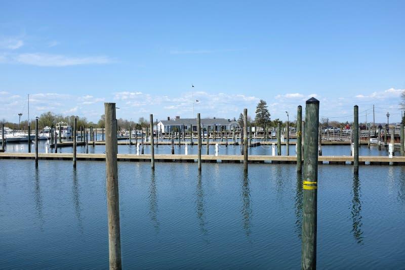 Stony Brook Yacht Club. STONY BROOK, NY - MAY 3, 2015: Stony Brook Yacht Club. The facility is located on the North Shore of Long Island within Stony Brook royalty free stock photos