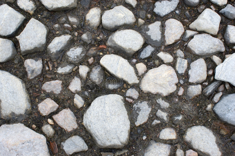 Stony ground. On coast of lake stock photo