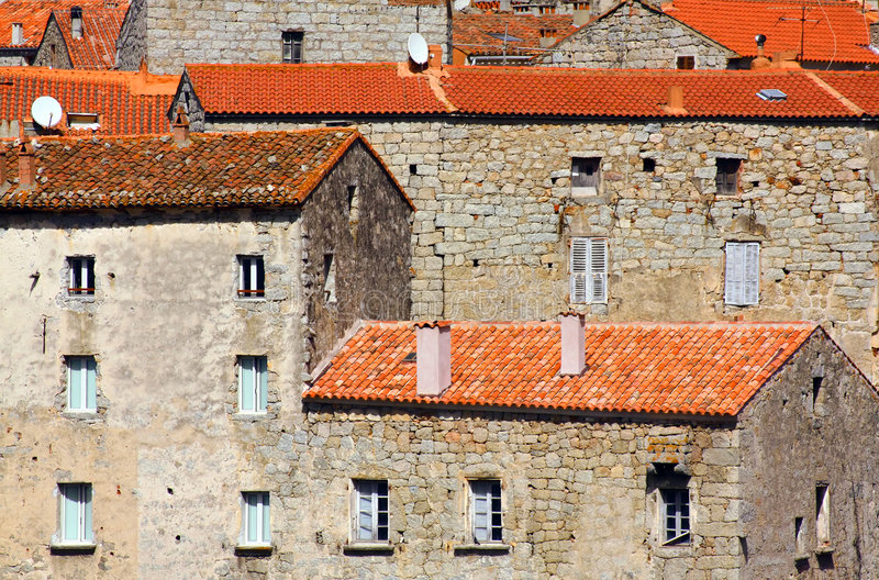 Download Stony houses, Corsica stock photo. Image of facing, block - 6440386