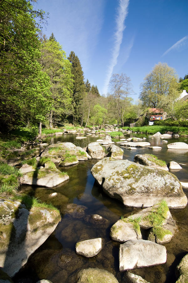 Download Stony River In The Spring Countryside Stock Image - Image: 19644945