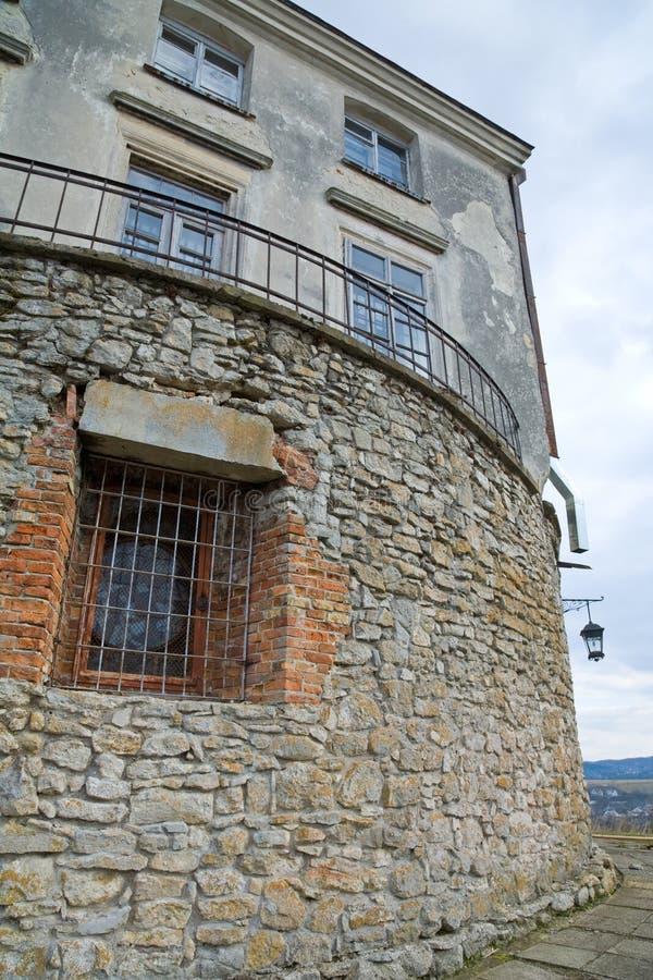 Free Stony Wall With Window And Lamp Royalty Free Stock Photos - 13705168