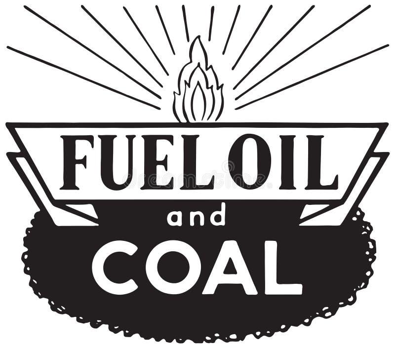 Stookolie en Steenkool stock illustratie