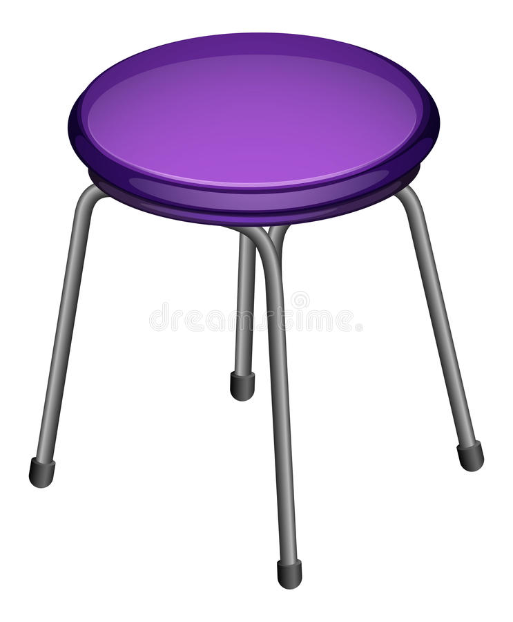 Stool. Illustration of a single stool vector illustration