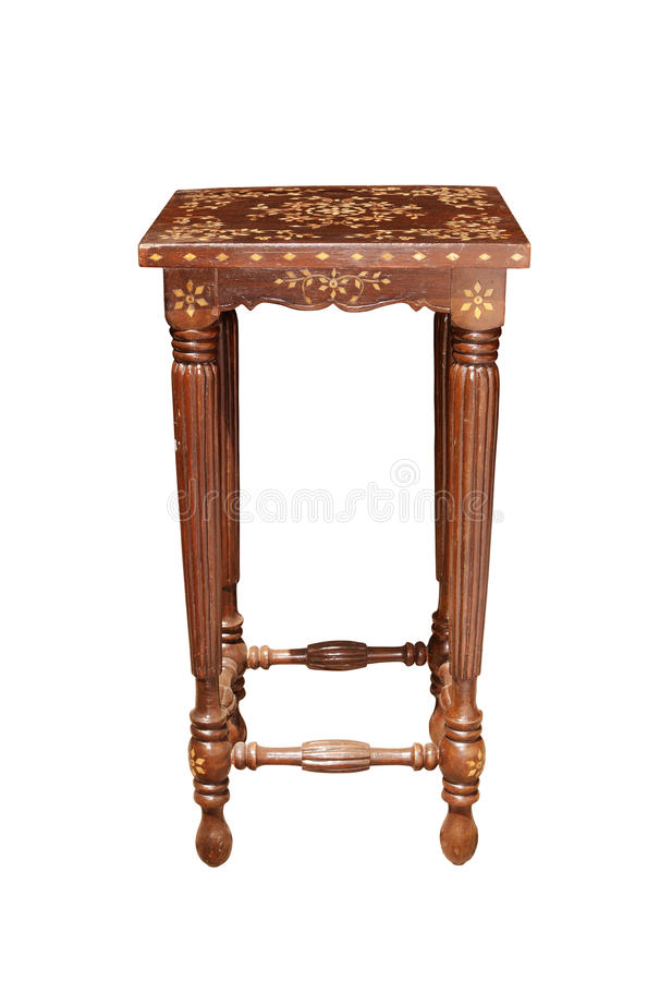 Free Stool-with-inlay-front-view Royalty Free Stock Images - 23505599