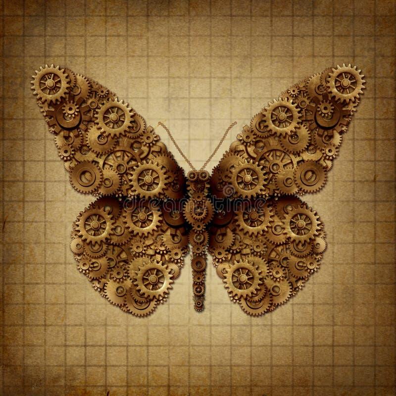 Stoom Punkvlinder royalty-vrije illustratie