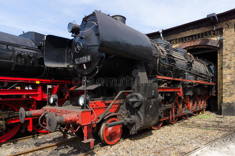 Stoom voortbewegings Ruwe Stendal DR. Class 52.80 (Kriegslokomotive) stock afbeelding