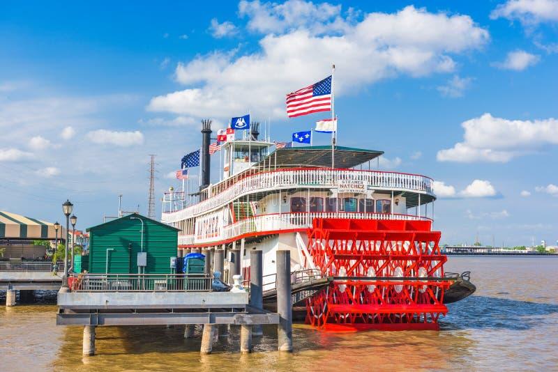 Stoomboot Natchez in New Orleans royalty-vrije stock afbeeldingen