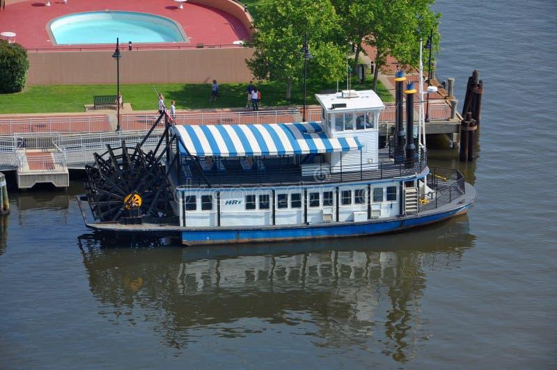 Stoomboot in Norfolk, Virginia, de V.S. stock fotografie