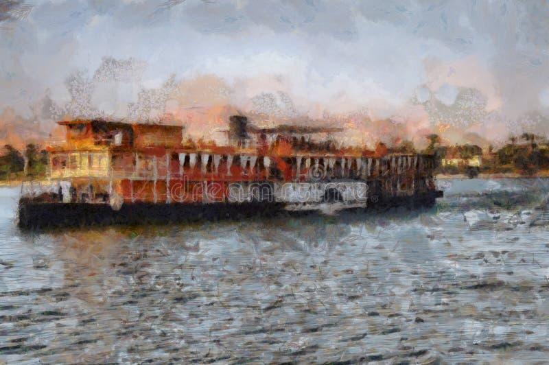 Stoomboot op de Nijl stock afbeeldingen