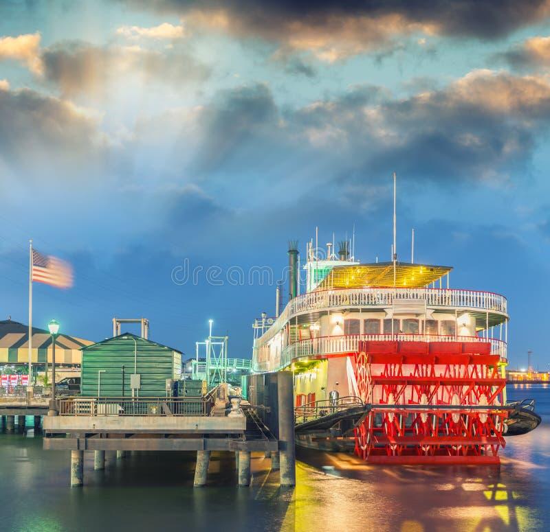 Stoomboot op de rivier van de Mississippi, New Orleans royalty-vrije stock fotografie