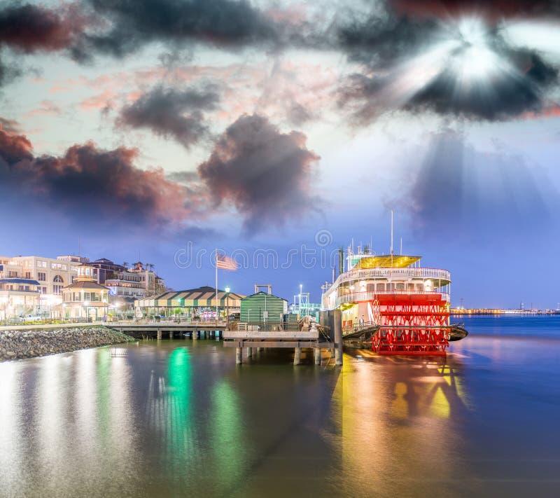 Stoomboot op de rivier van de Mississippi, New Orleans royalty-vrije stock afbeeldingen