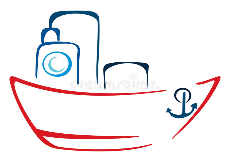 Stoombootillustratie stock illustratie