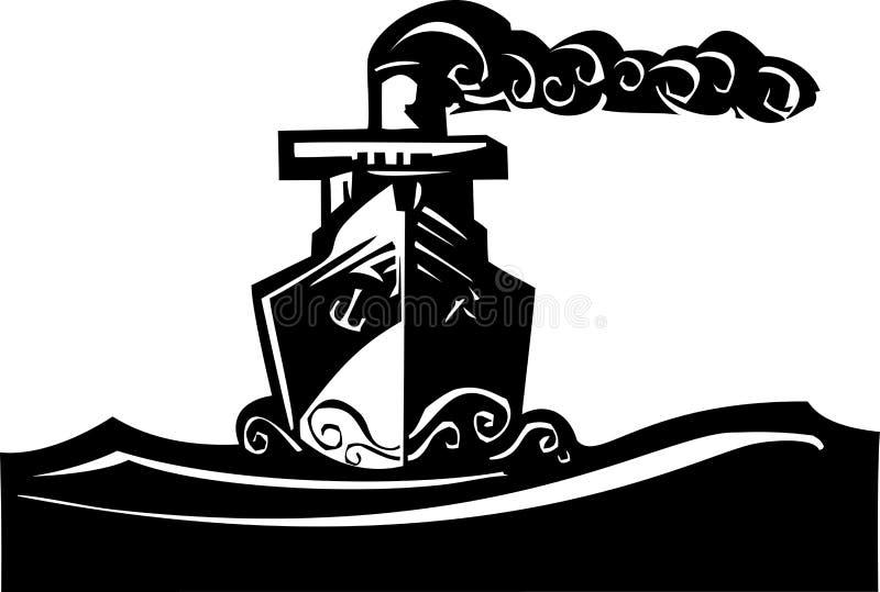 Stoomschip stock illustratie