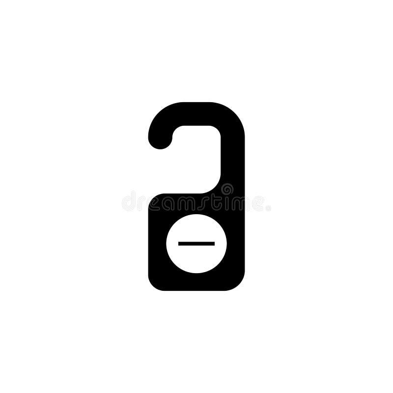Stoor geen stevig pictogram, de hanger van de hoteldeur vector illustratie