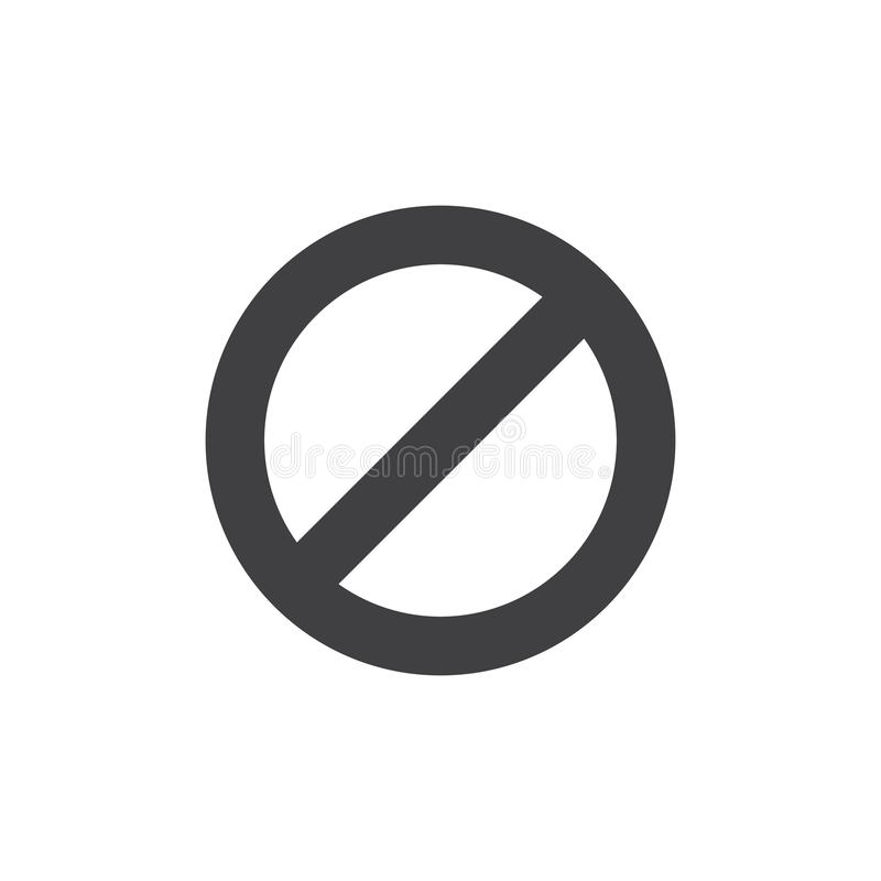 Stoor geen vectorpictogram royalty-vrije illustratie