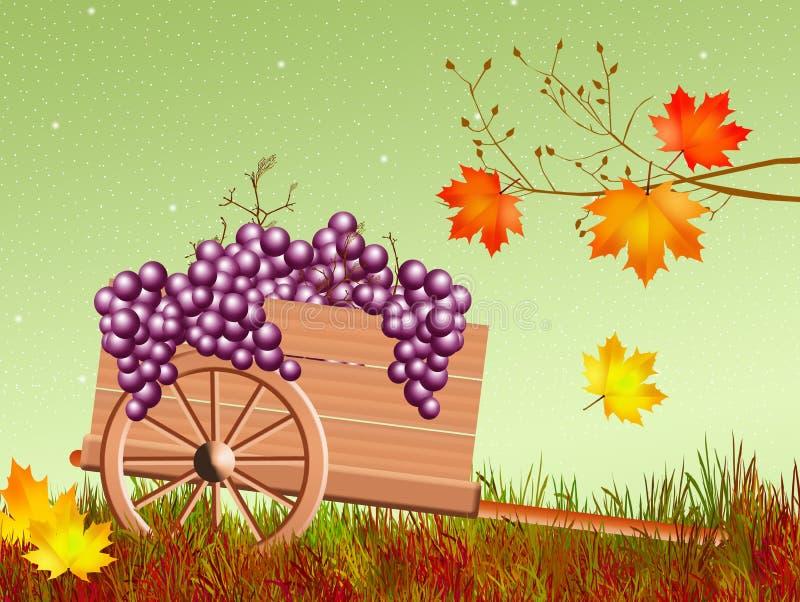 Stootkar in de herfst royalty-vrije illustratie