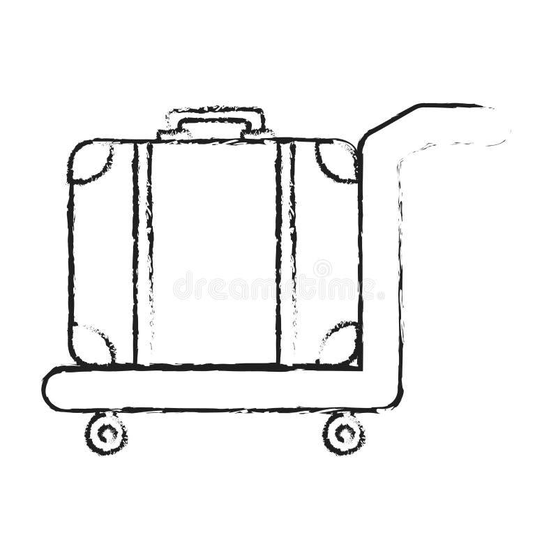 Stootkar met bagage stock illustratie