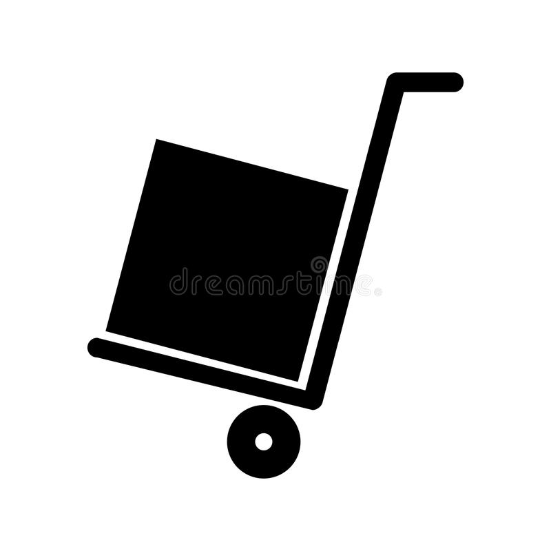 Stootkar met doos vector illustratie