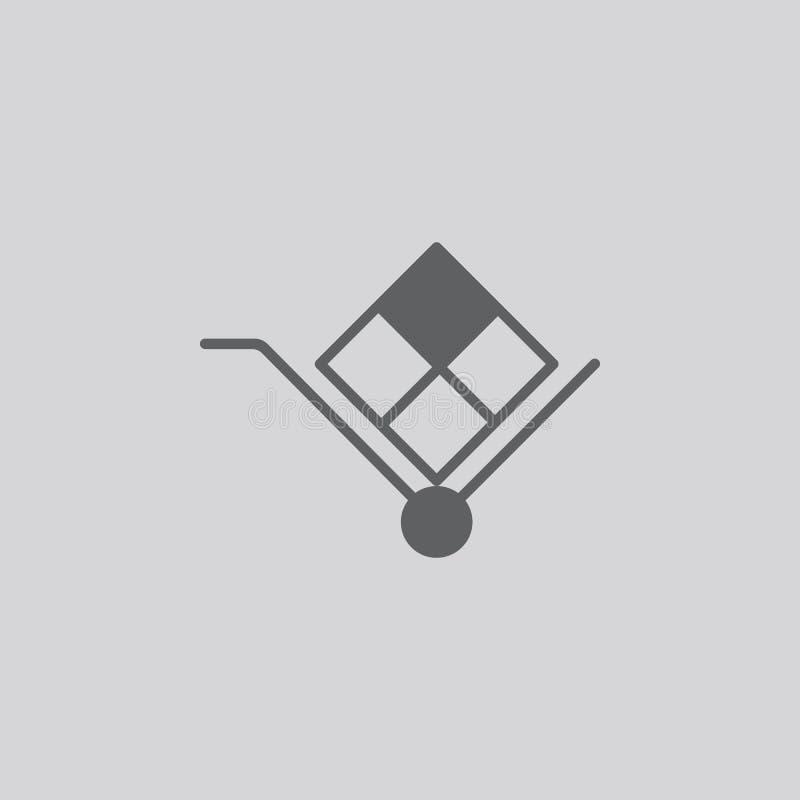 Stootkar vectorpictogram vector illustratie